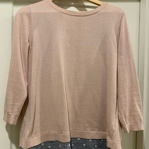 Boden Crew Neck with Split Back Size M